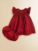 Isabel Garreton Infant's Smocked Silk Bishop Dress
