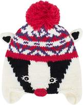 Animal Metabee Badger Bobble Beanie