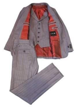 Ike Behar Ike By Striped 3-Piece Vested Suit Set