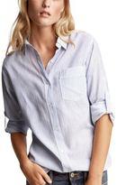 Textured boyfriend shirt