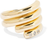 Elizabeth and James Pearce set of two gold-tone crystal rings