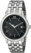88 Rue du Rhone Men's 87WA130011 Analog Display Swiss Quartz Silver Watch