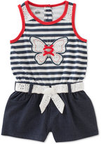 Kids Headquarters Denim Butterfly Romper, Baby Girls (0-24 months)