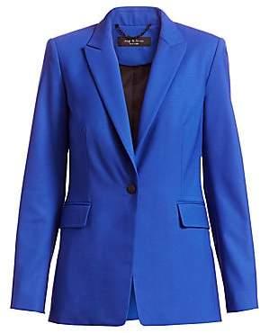Rag & Bone Women's Hazel Stretch-Wool Single Button Blazer - Size 0