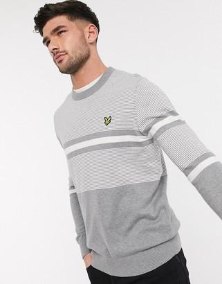 Lyle & Scott placement stripe knitted jumper