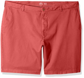 "Izod Men's Big and Tall Saltwater 10.5"" Flat Front Chino Short"