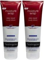 Neutrogena Norwegian Formula Moisture Wrap Daily Repair Body Lotion - Fragrance Free - 8.5 oz - 2 pk