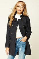 Forever 21 FOREVER 21+ Padded Mock Neck Peacoat
