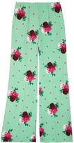 Marc Jacobs Floral-print crepe wide-leg pants