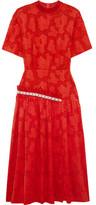 Mother of Pearl Twilla Embellished Burnout Cotton Midi Dress