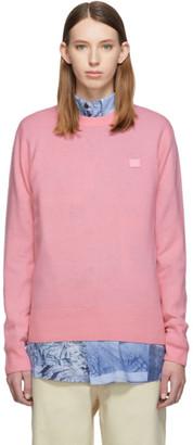Acne Studios Pink Patch Crewneck Sweater