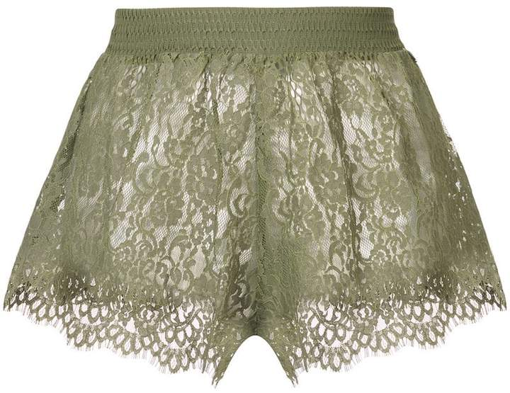 Puma sheer lace mini shorts