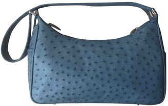 N. Non Signé / Unsigned Non Signe / Unsigned \N Blue Ostrich Handbags