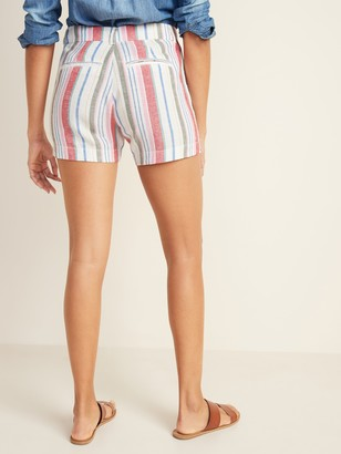 Old Navy Mid-Rise Everyday Linen-Blend Shorts for Women - 5-inch inseam