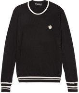 Dolce & Gabbana - Slim-fit Stripe-trimmed Virgin Wool Sweater