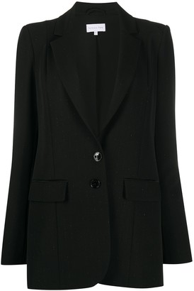 Patrizia Pepe Lurex-Detail Long Sleeve Blazer