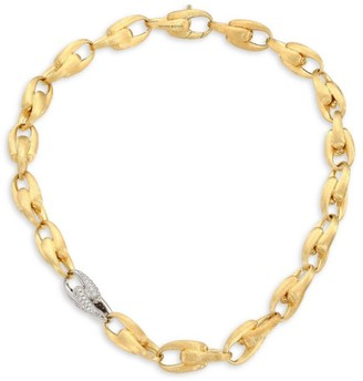 Marco Bicego Legami Diamond & 18K Yellow Gold Large Link Chain Necklace