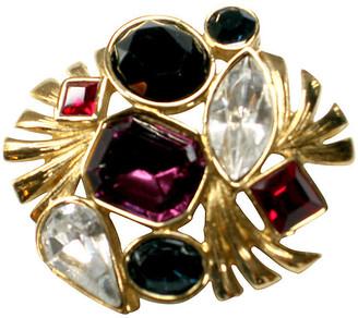 One Kings Lane Vintage Bejeweled Crystal Brooch - Wisteria Antiques Etc