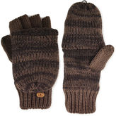 Muk Luks Marled Fingerless Flip Top Gloves