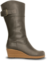 Crocs Espresso & Walnut A-Leigh Leather Boot - Women