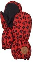 Mini Rodini Alaska Leopard Glove Red