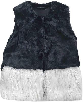 Silvian Heach Black Faux fur Leather jackets