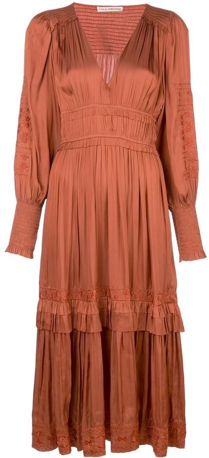 Ulla Johnson Shaina floral embroidery dress