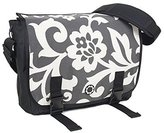 DaisyGear Messenger Diaper Bag - Charcoal Whimsey