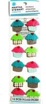 Martha Stewart Crafts Dimensional Stickers - Cupcakes - Sweets, Treats, Food