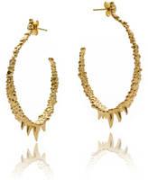 Gia Belloni Medium Organic Textured Hoop Earrings Reduced Price