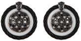 Alor 18K White Gold, Diamond, & Ceramic Stud Earrings - 0.73 ctw