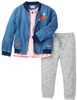 Hudson Bomber Jacket, Tunic, and Pant 3-Piece Set (Toddler Girls)