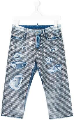 DSQUARED2 Rhinestone Embellished Jeans