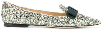 Jimmy Choo Gala glitter-embellished ballerina shoes
