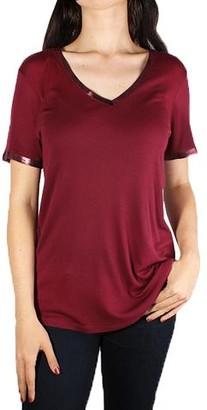 Zadig & Voltaire Atia Foil V Neck T-Shirt Bordeaux
