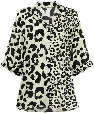 Être Cécile Leopard Print Silk Blouse