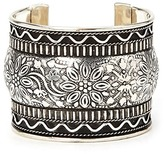 Forever 21 FOREVER 21+ Etched Floral Cuff