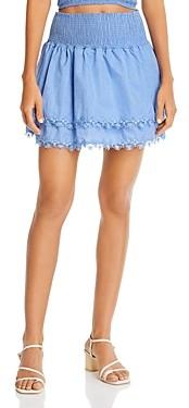 Peixoto Belle Smocked Mini Skirt Swim Cover-Up