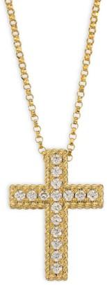 Roberto Coin 18K Yellow Gold & Diamond Cross Necklace
