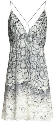 Haute Hippie Snake-print Fil Coupe Chiffon Mini Dress