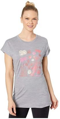 Smartwool Merino Sport 150 Cactus Crop Tee (Light Gray Heather) Women's T Shirt