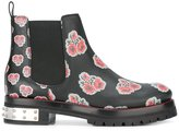 Alexander McQueen poppy print boots - women - Leather/Spandex/Elastane/Metal (Other)/rubber - 37