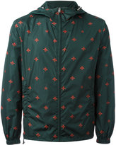 Gucci bee and star print windbreaker - men - Polyamide/Polyester - 46