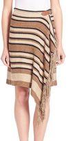Polo Ralph Lauren Fringe-Trim Knit Wrap Skirt
