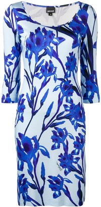 Just Cavalli fitted floral dress