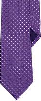 Ralph Lauren Purple Label Polka-Dot Peau de Soie Tie