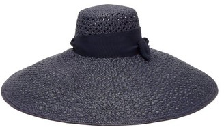 Lola Hats Grand Rise And Shine Straw Hat - Womens - Navy