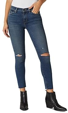 Hudson Nico Skinny Ankle Jeans in Worn Shakedown