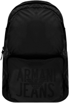 Giorgio Armani Jeans Packaway Backpack Black