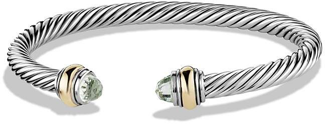 David Yurman Cable Classics Bracelet with Prasiolite